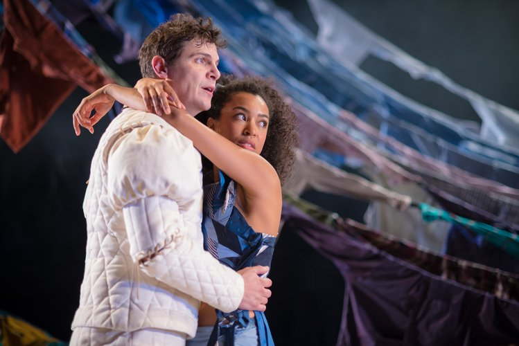 Chris Price as Ferdinand and Jade Ogugua as Miranda in the Tempest_jpg_750x500_q85